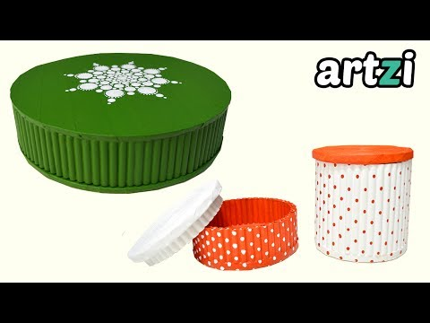 Round Box made with Magazine Rolls