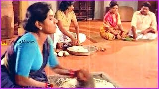 Comedy Scene Between Manorama & Servants - In Debbaku Debba Telugu Movie