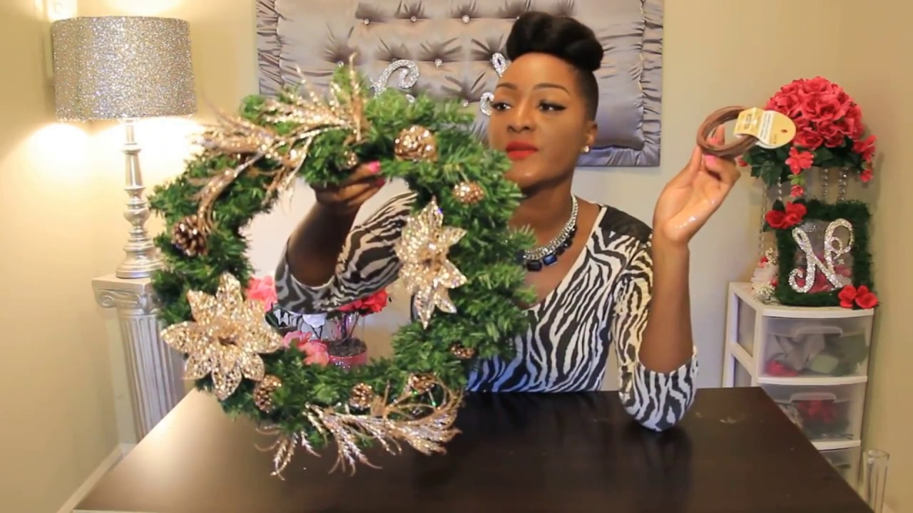 New 2 diys champagne gold wreath tall floral arrangement 2 diys champagne gold wreath tall floral arrangement michaels haul black friday youtube mightylinksfo