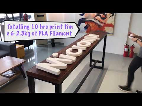 How to make illuminated Channel Letter with 3D Printer?