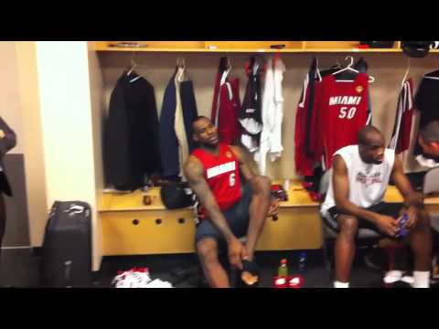 LeBron James Locker Room Game 3 NBA FINALS 2011