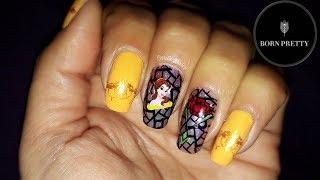 Diseño uñas La Bella y La Bestia Beauty and the Beast #Bornprettystore