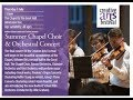 Summer Chapel Choir And Orchestral Concert