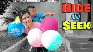 Hide and Seek Pretend Play with Balloons