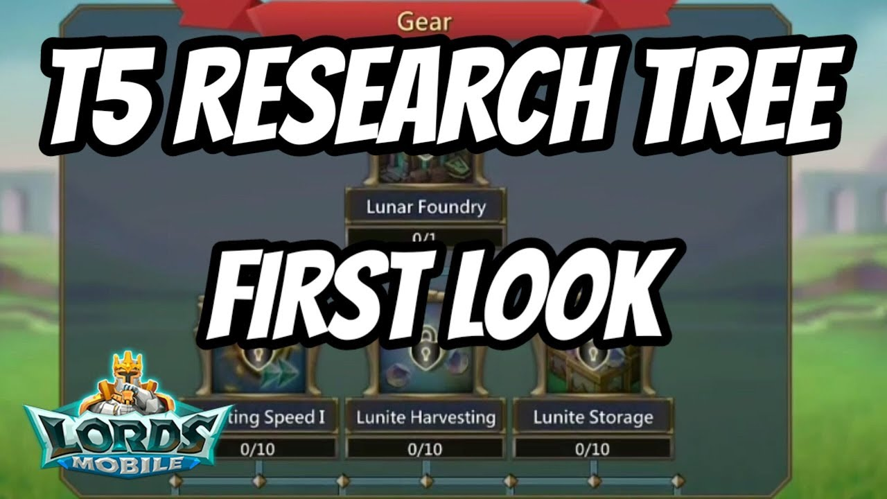 T5 Research Tree FIRST LOOK! - Lords Mobile