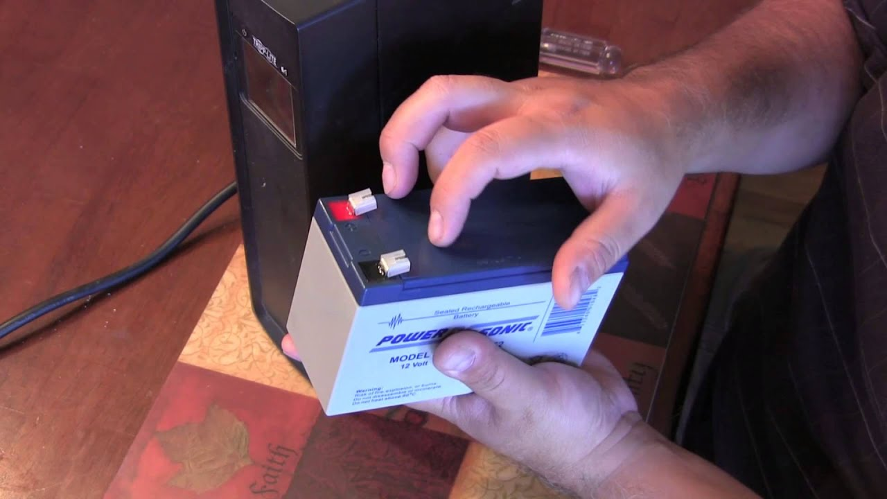 maxresdefault how to replace the battery in a tripp lite omni1000lcd ups youtube  at virtualis.co