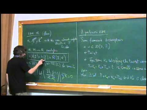 2dd2483f3f0b Mini Course - KAM for PDES - Prof. Yannick Sire - Class 2 - YouTube