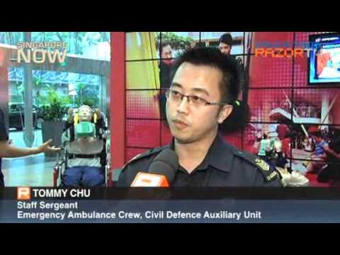 20110715 HomeTeam Volunteers - VSC/TP INSP ABDUL JALIL and CDAU/EAS SSGT CHU Tommy