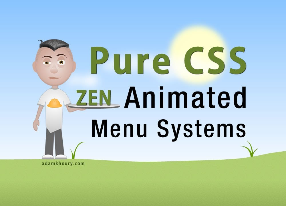 Pure CSS Animated Menu Buttons CSS3 transition HTML5 Tutorial