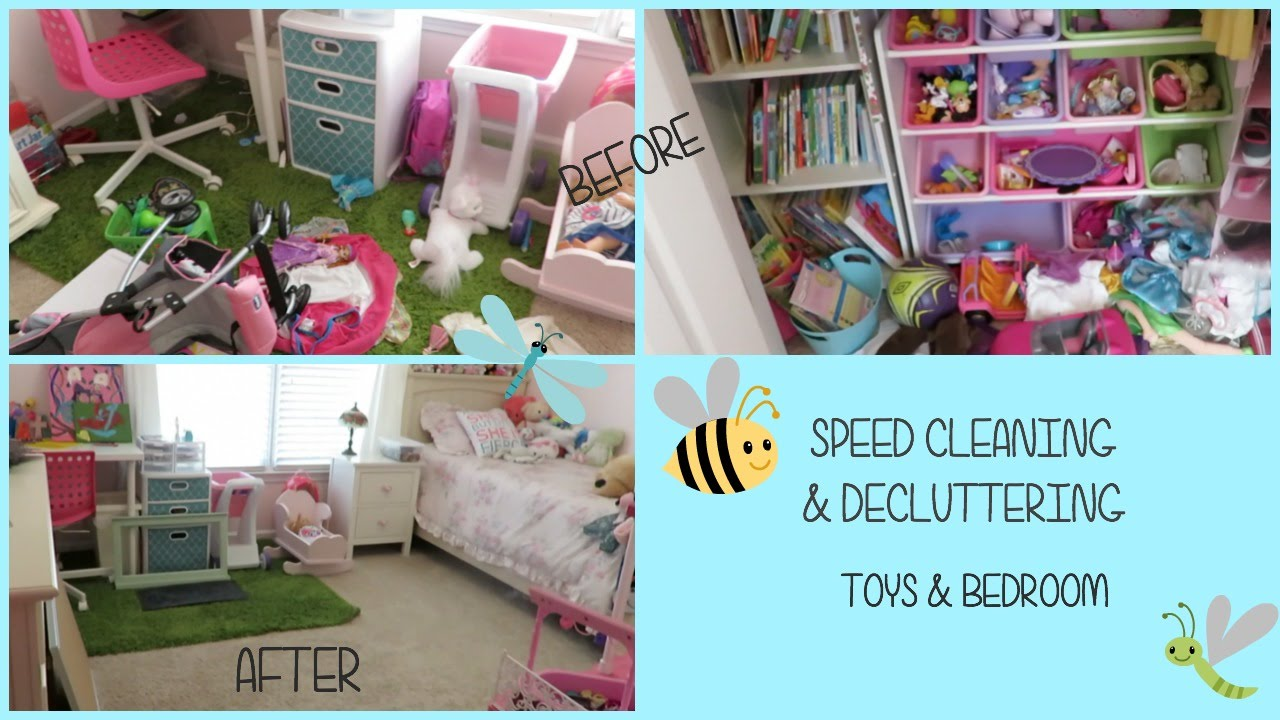 Speed Cleaning  Decluttering Girls Bedroom  Toys