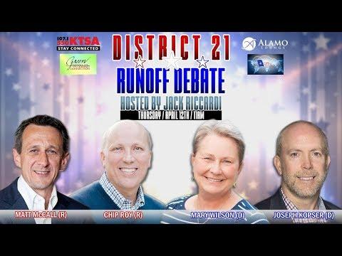 Texas District 21 Republican Primary Runoff Debate