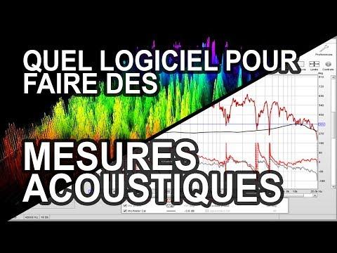 ACOUSTIQUE 02 - Quels logiciels faut-il pour faire des mesures acoustiques ?
