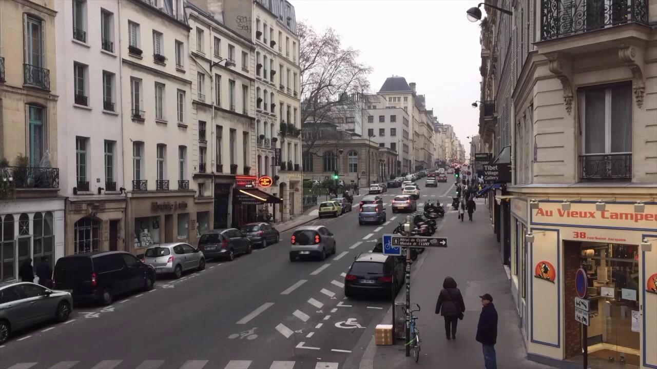 rue saint jacques paris youtube. Black Bedroom Furniture Sets. Home Design Ideas