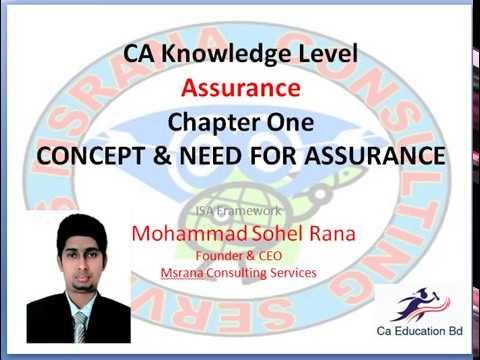 Assurance chapter 01-CONCEPT & NEED FOR ASSURANCE part 1