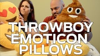 Throwboy Emoticon Pillows (giveaway + Poop Kiss!)