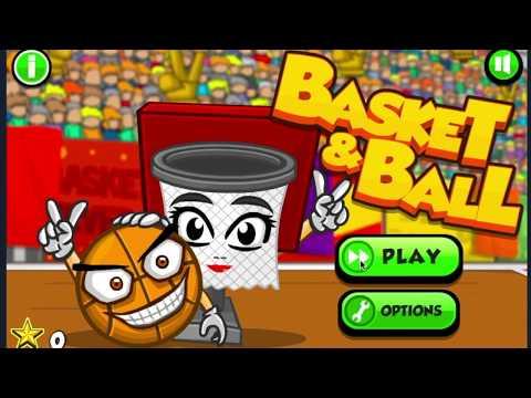 Coolmath-Games.com Basket And Ball 100% Walkthrough Part 1: Levels 1-5