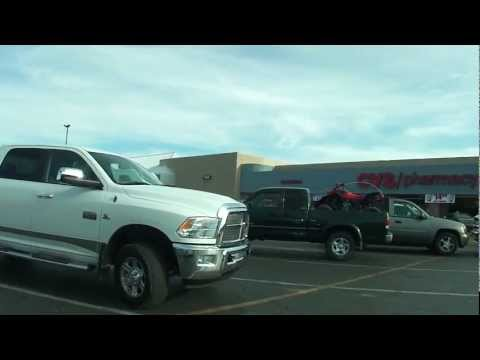 Parker, Arizona - Chase Bank, past Boat Storage & Service to the CVS Pharmacy Parking Lot