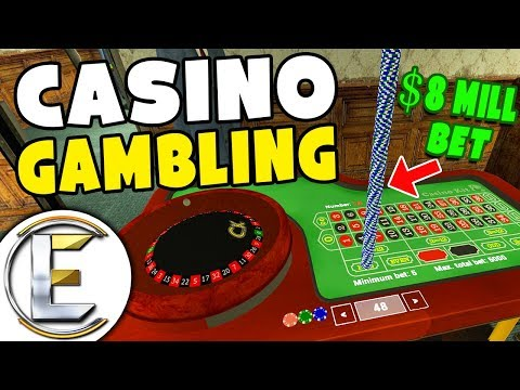 8 Million Dollar Bet In The Casino - GMOD DarkRP (Someone Loses A Lot Of Money)
