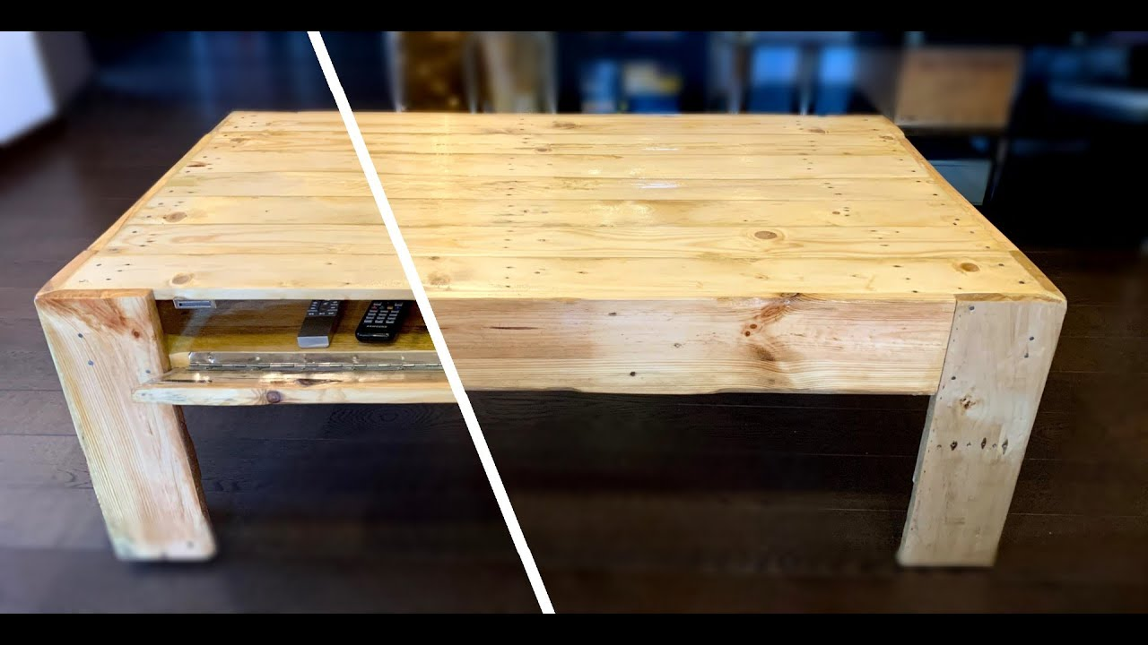pallet coffee table with secret