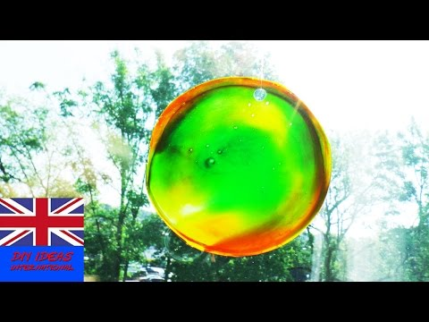 How to make a beautiful suncatcher out of glue | Cool window decoration | Summer idea