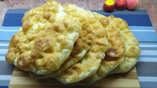 Готовлю их когда нет хлеба Лепёшки пышные на кефире Рецепт моей бабушки старый и проверенный
