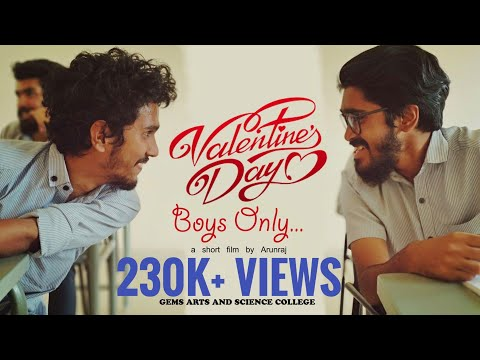 Valentines Day BOYS ONLY | a short film | Gems arts and science college