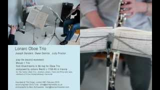 Lonarc Oboe Trio play Minuet & Trio (2nd movt) from Divertimento in Bbmaj by Johann Wenth