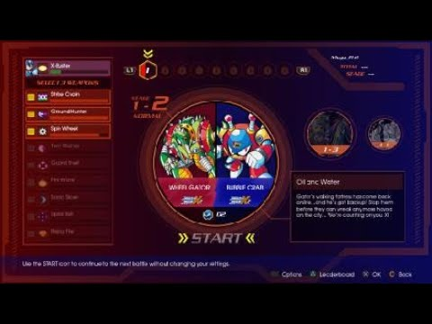 First Stage of X Challenge - Mega Man X Legacy Collection