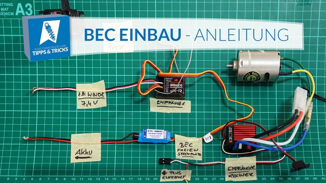Castle Creation BEC installieren & mit Castle LINK programmieren -  Videotutorial [Deutsch/HD]