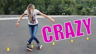 Ролики. Слаломный трюк Крейзи | Crazy slalom trick(http://askroller.com/crazy Слаломный элемент крэйзи. Одни из самых простых способов для удивления людей, которые ничего..., 2014-02-08T13:11:08.000Z)