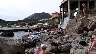 Съемка клипа на берегу Черного моря, Крым Новый Свет