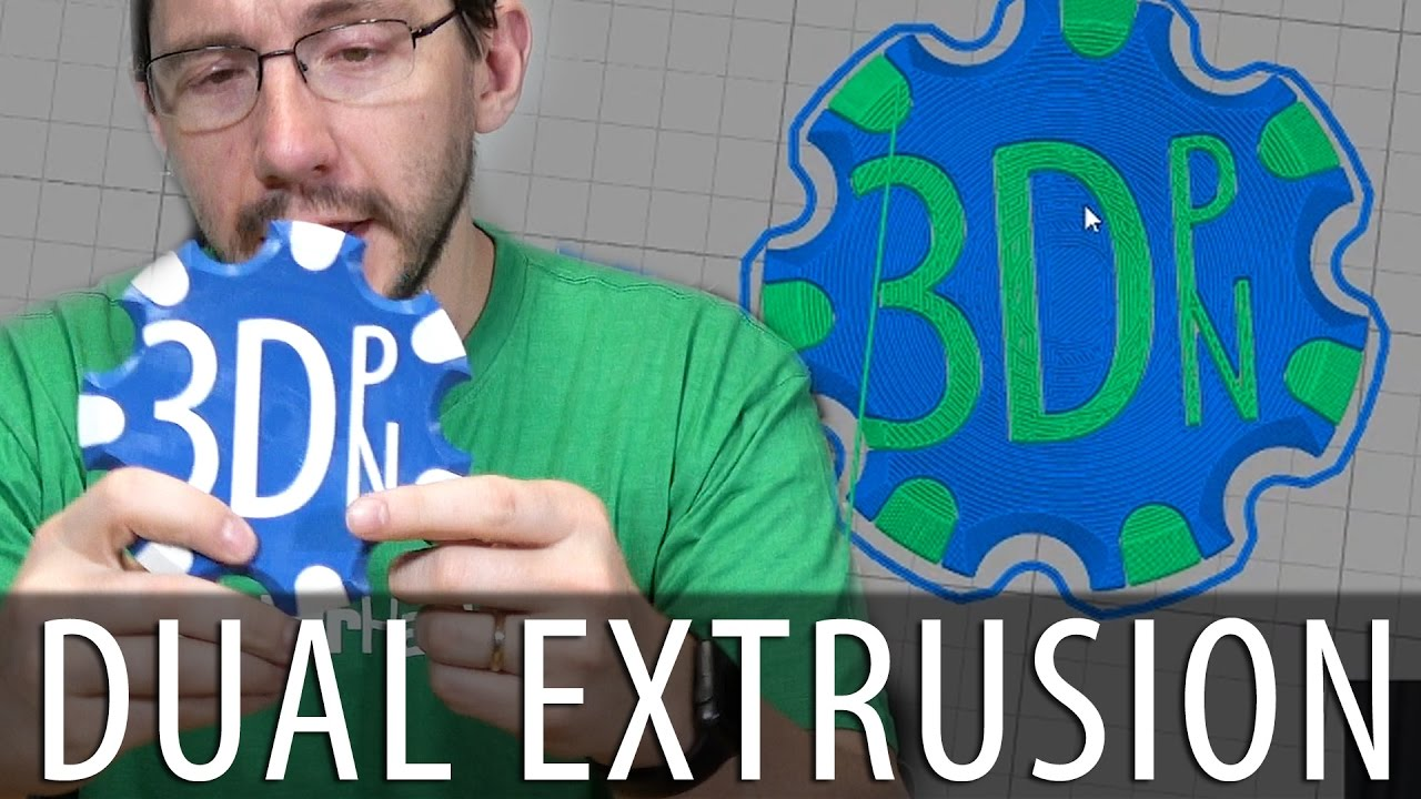 Dual Extrusion 3D Printing with Simplify3D and Cura on the BCN Sigma R17  and Ultimaker 3