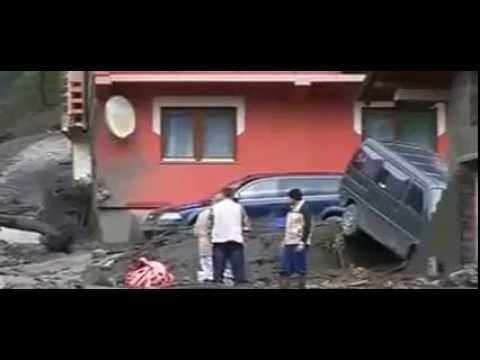 Dramatic footage of floods in Serbia and Bosnia
