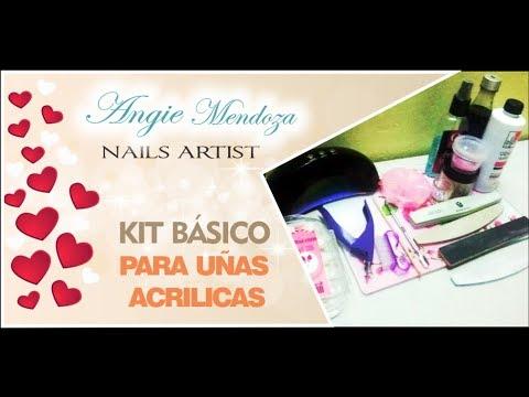 Kit De Material Basico Para Uñas Acrilicas By Angie Mendoza