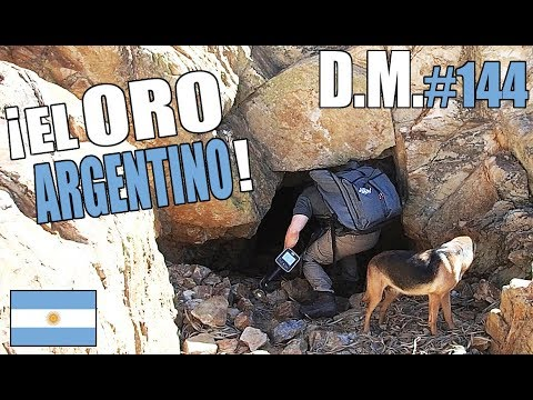 ¡¡AVENTURA en busca del ORO ARGENTINO!! 🇦🇷 Con detector de metales y batea - Detección Metálica 144
