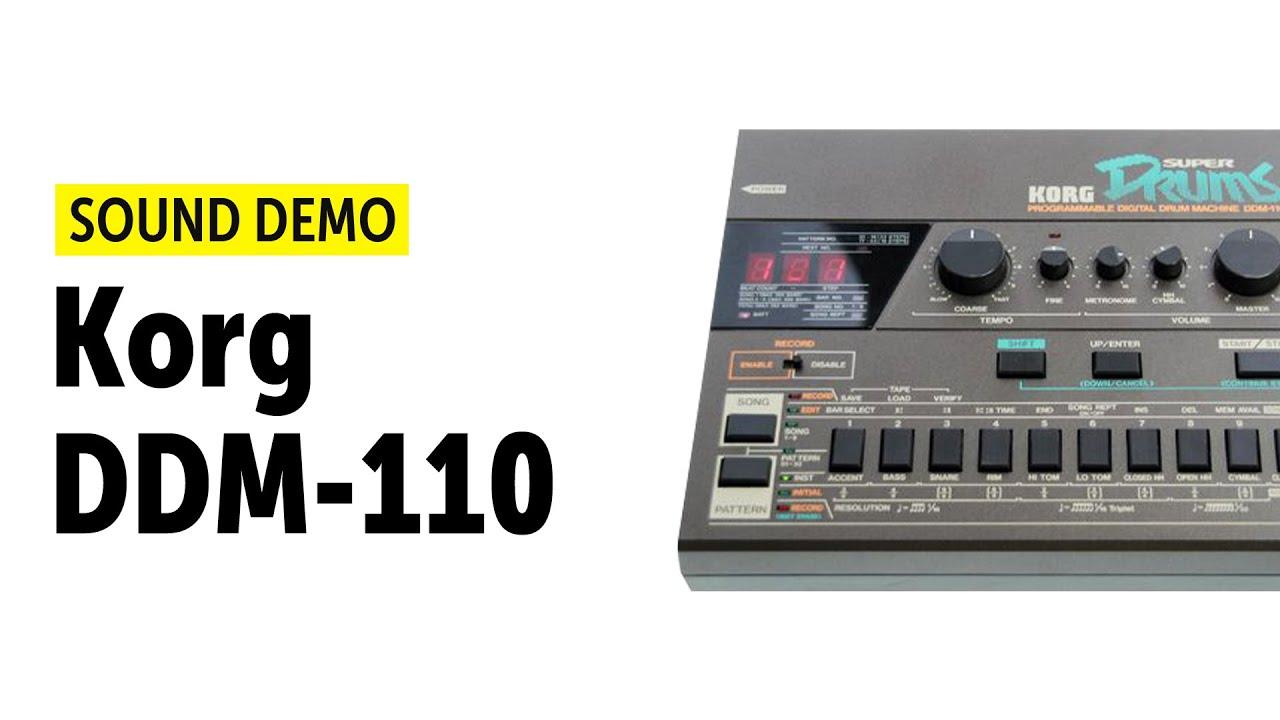 korg ddm 110 drum machine sound demo youtube. Black Bedroom Furniture Sets. Home Design Ideas