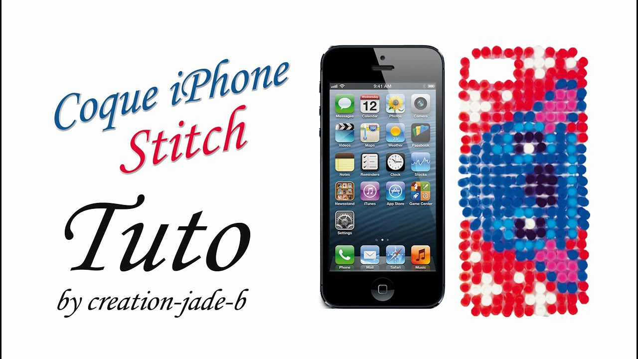 coque de telephone iphone 5 stitch
