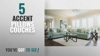 Top 10 Accent Pillows Couches [2018]: Ashley Furniture Signature Design - Daystar Sofa with 4 Accent