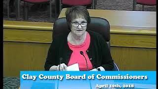B180410A -04/10/18 - Clay County MN Board of Commissioners