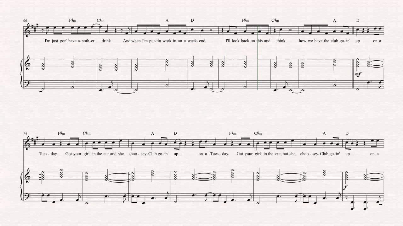 Bari Sax - Tuesday - ILOVEMAKONNEN ft. Drake Sheet Music, Chords, u0026 Vocals - YouTube