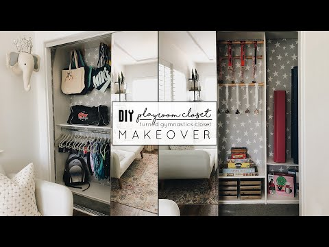 DIY Playroom Closet Makeover   YouTube