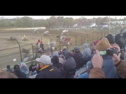ASCS Sprint Cars, Heat 4, Creek County Speedway 10/12/19