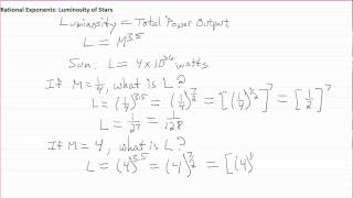 Rational Exponents in Astronomy Lecture 1