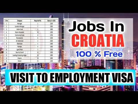 Free Jobs In Croatia 2021 ¦¦ Salary Upto 2200 US $ Dollar ¦¦ Reputed Company ¦¦ Gulf Job Solution