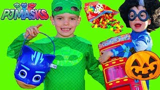 Spooky PJ Masks Catboy TRICK OR TREAT Halloween Gekko Costume TRICK