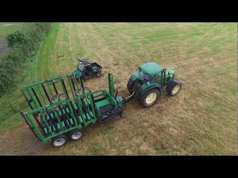 Irish-designed bale transporter in action