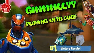 *New* Skins/Update Playground Mode - Playing with subs- (Fortnite battle Royal) - 10,000 kills -Win