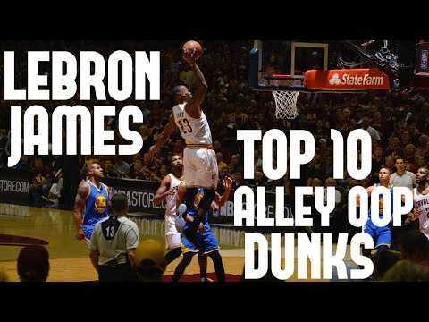 301bc1624d1 LeBron James Top 10 Alley Oop Dunks of His Career - YouTube