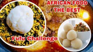 Fufu Challenge TikTok viral videos African Food and reactions // FUFU mukbang
