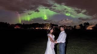 Alberta couple's wedding photo perfectly captures aurora borealis event